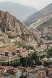 Vista panoramica di Amasya, Turchia fotografia stock libera da diritti