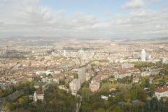 Vista panoramica di Ankara fotografia stock