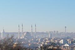 Vista panoramica di Ankara, Turchia Immagini Stock Libere da Diritti