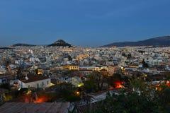 Vista panoramica di Atene fotografia stock libera da diritti