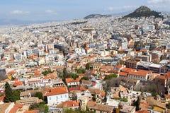 Vista panoramica di Atene dall'acropoli, Grecia Immagini Stock
