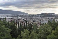 Vista panoramica di Atene immagine stock