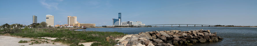 Vista panoramica di Atlantic City Immagine Stock Libera da Diritti