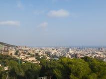 Vista panoramica di Barcellona Fotografia Stock Libera da Diritti