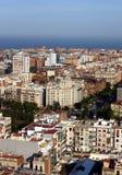 Vista panoramica di Barcellona Fotografie Stock