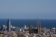 Vista panoramica di Barcellona Fotografie Stock Libere da Diritti