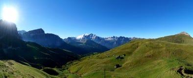 Vista panoramica di bello paesaggio della montagna della dolomia Immagini Stock Libere da Diritti