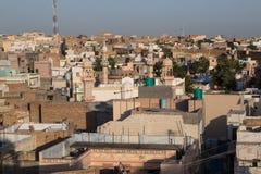 Vista panoramica di Bikaner, India Fotografia Stock Libera da Diritti