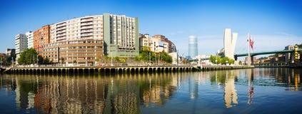Vista panoramica di Bilbao fotografia stock libera da diritti