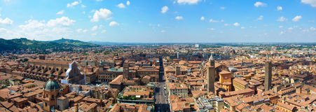 Vista panoramica di Bologna, Italia fotografia stock