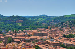 Vista panoramica di Bologna. L'Emilia Romagna. L'Italia. Fotografie Stock Libere da Diritti