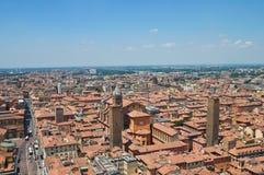 Vista panoramica di Bologna. L'Emilia Romagna. L'Italia. Fotografie Stock