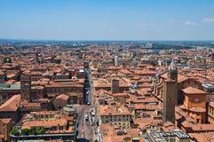 Vista panoramica di Bologna. L'Emilia Romagna. L'Italia. Fotografia Stock Libera da Diritti