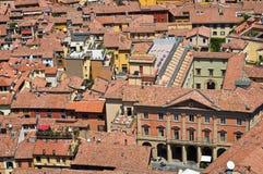 Vista panoramica di Bologna. L'Emilia Romagna. L'Italia. Immagine Stock Libera da Diritti