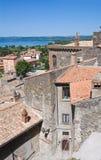 Vista panoramica di Bolsena. Il Lazio. L'Italia. Fotografie Stock