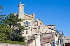 Vista panoramica di Bolsena. Il Lazio. L'Italia. Immagini Stock