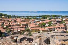 Vista panoramica di Bolsena. Il Lazio. L'Italia. Fotografia Stock