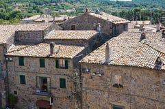 Vista panoramica di Bolsena. Il Lazio. L'Italia. Immagine Stock Libera da Diritti