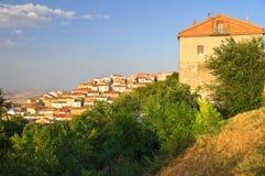 Vista panoramica di Bovino La Puglia L'Italia Immagini Stock Libere da Diritti