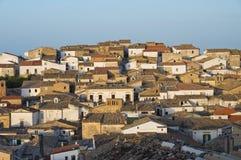 Vista panoramica di Bovino La Puglia L'Italia Fotografia Stock