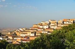Vista panoramica di Bovino La Puglia L'Italia Fotografie Stock