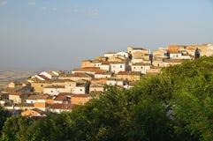 Vista panoramica di Bovino La Puglia L'Italia Immagini Stock
