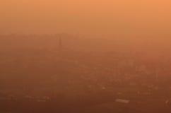 Vista panoramica di Brianza al tramonto Immagine Stock