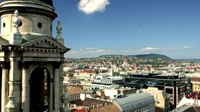 Vista panoramica di Budapest stock footage