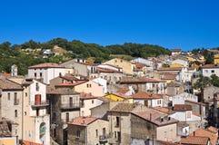 Vista panoramica di Cancellara La Basilicata L'Italia Fotografia Stock