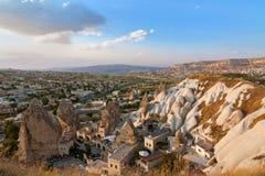 Vista panoramica di Cappadocia fotografie stock
