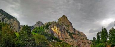 Vista panoramica di Cheile Bicaz Fotografie Stock Libere da Diritti