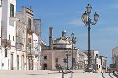 Vista panoramica di Cisternino. La Puglia. L'Italia. Immagine Stock Libera da Diritti