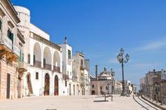 Vista panoramica di Cisternino. La Puglia. L'Italia. Fotografia Stock