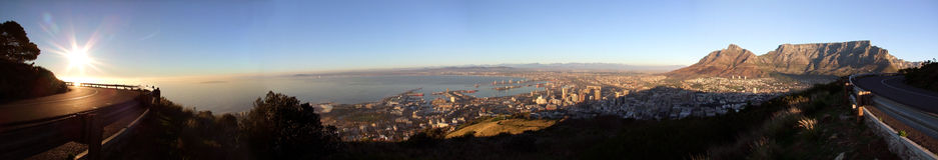 Vista panoramica di Città del Capo, Sudafrica Fotografie Stock Libere da Diritti