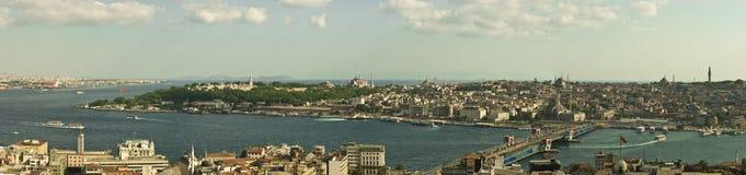 Vista panoramica di Costantinopoli Immagini Stock Libere da Diritti