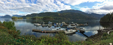 Vista panoramica di Egmont, BC immagine stock libera da diritti