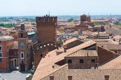 Vista panoramica di Ferrara. L'Emilia Romagna. L'Italia. Fotografia Stock Libera da Diritti