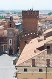 Vista panoramica di Ferrara. L'Emilia Romagna. L'Italia. Immagini Stock Libere da Diritti
