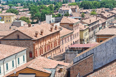 Vista panoramica di Ferrara. L'Emilia Romagna. L'Italia. Fotografia Stock