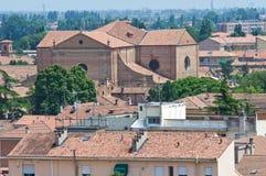 Vista panoramica di Ferrara. L'Emilia Romagna. L'Italia. Immagine Stock