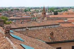 Vista panoramica di Ferrara. L'Emilia Romagna. L'Italia. Immagine Stock Libera da Diritti