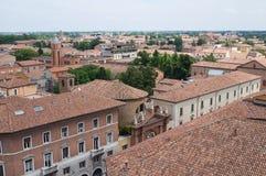 Vista panoramica di Ferrara L'Emilia Romagna L'Italia Fotografia Stock