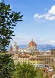 Vista panoramica di Firenze da Piazzale fotografia stock libera da diritti