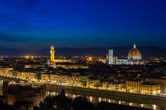 Vista panoramica di Firenze da Piazzale Michelangelo, Toscana fotografia stock