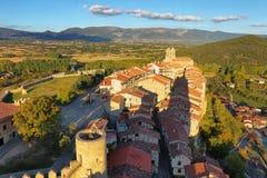 Vista panoramica di Frias, Burgos, Spagna fotografie stock