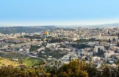 Vista panoramica di Gerusalemme Immagini Stock