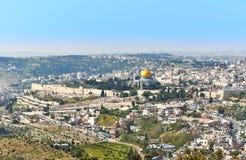 Vista panoramica di Gerusalemme Immagine Stock Libera da Diritti
