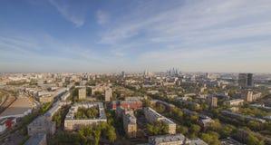 Vista panoramica di giorno di paesaggio urbano di Mosca Immagini Stock