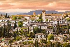 Vista panoramica di Granada, Andalusia, Spagna fotografia stock