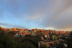 Vista panoramica di Guanajuato Messico immagini stock libere da diritti